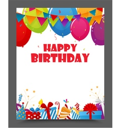Birthday celebration party card design vector
