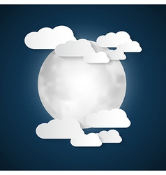 Abstract Moon and Clouds vector image vector image