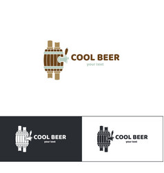 beer logo seven vector image vector image