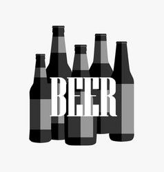 beer poster with black and white text vector image