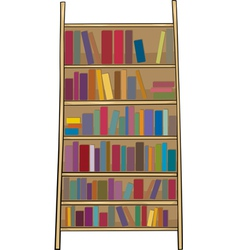 book shelf clip art cartoon vector image vector image