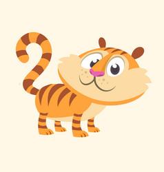 cartoon tiger funny vector image