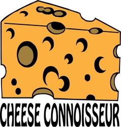 Cheese connoisseur vector