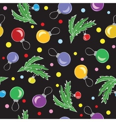 Christmas decorations balls seamless pattern vector image vector image