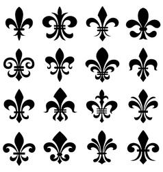classic fleur de lys symbol icon set vector image vector image