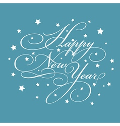 Decorative New Year background vector image