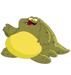 fat monster vector image
