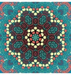 Green mandala Vintage art vector image
