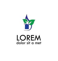 Green water abstract logo vector