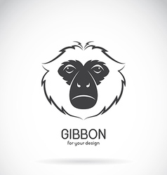 Image of a gibbon head design vector