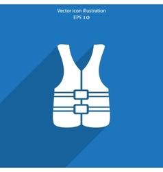 Life jacket icon vector