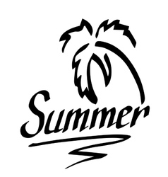 logo with palm and lettering vector image