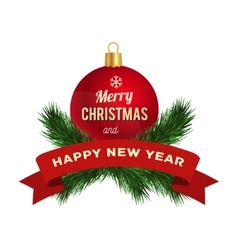 New year greeting card logo vector