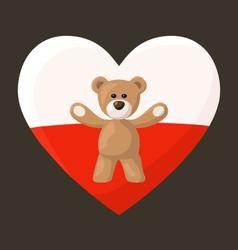 Polish Teddy Bears vector image vector image