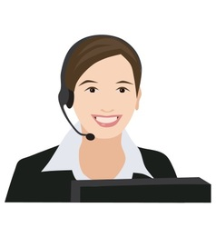 Profession receptionist woman vector image