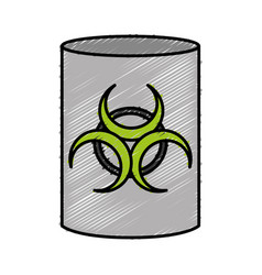 Radioactive barrel icon vector