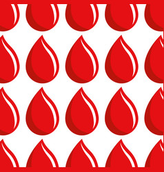 Red drop blood donation transfusion background vector