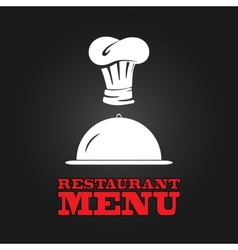 Restaurant menu design poster vector image