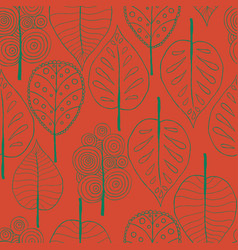 Seamless trees background vector