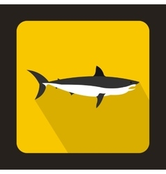 Shark icon flat style vector image vector image