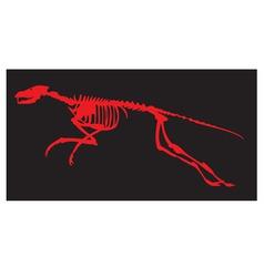 skeleton of a dinosaur vector image vector image