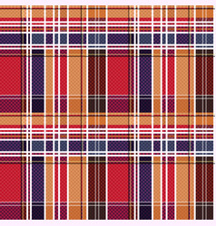 tartan seamless texture mainly in red and blue vector image vector image