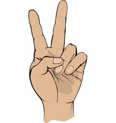 victory sign gesture vector image vector image