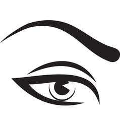woman eye and brow vector image vector image