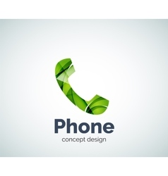 Retro phone logo template vector