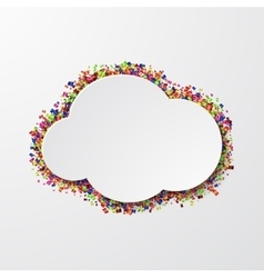 modern cloud with confetti on white vector image