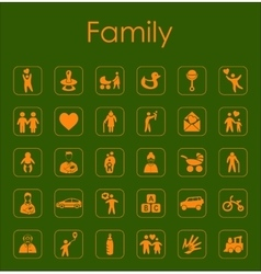 Set of family simple icons vector