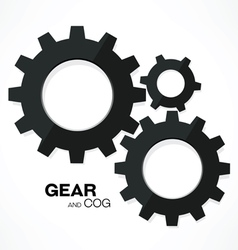 gear cogs vector image