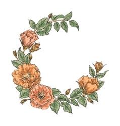 Floral handdrawn wreath vector image