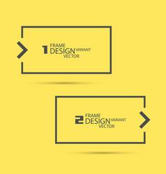 design variant frame vector image