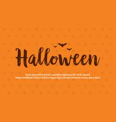 Background card halloween celebration design vector
