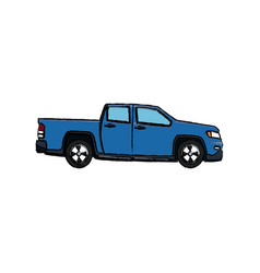 Pickup truck vehicle transport shipping vector