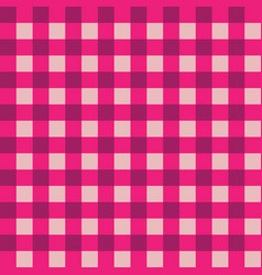 pink and dark pink plaid fabric pattern vector image