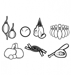 Set of active sport symbols vector