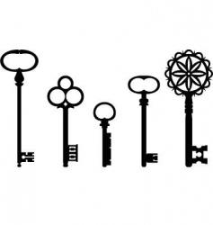 Vintage keys vector