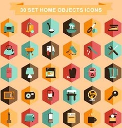 Set home objects icons vector