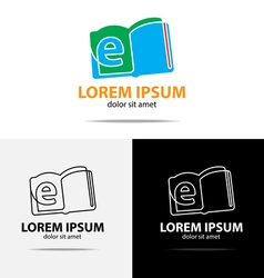 Ebook logo vector