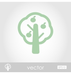 Fruit tree icon vector