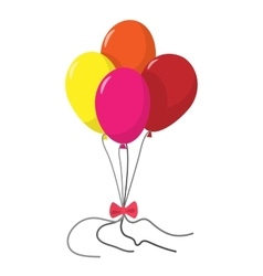 4 balloons cartoon icon vector