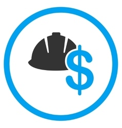 Developer salary icon vector