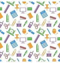 Pattern elements of colorful office supplies vector