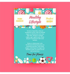 Healthy lifestyle sport invitation template flyer vector