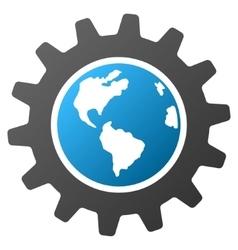 Earth engineering gradient icon vector