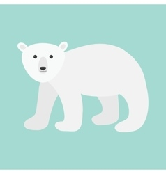 Arctic polar bear cub cute cartoon baby character vector