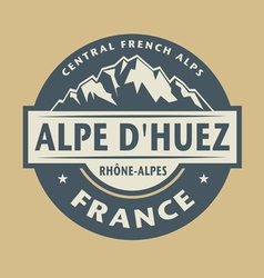Abstract stamp Alpe Dhuez vector image