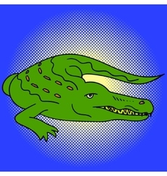 Alligator pop art vector